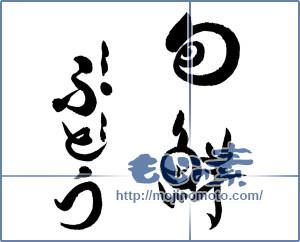 筆文字素材:旬鮮ぶどう①(リクエスト) [19233]