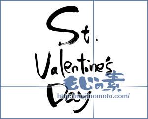 筆文字素材:St.Valentine'sDay [6471]