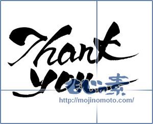 筆文字素材:Thank you  [16394]