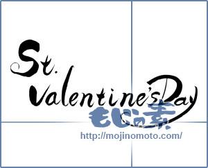 筆文字素材:St.valentine'sDay [7469]