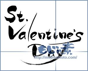 筆文字素材:St.valentine'sDay [7470]