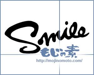 筆文字素材:Smile [2844]