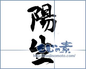 筆文字素材:陽生 [15678]