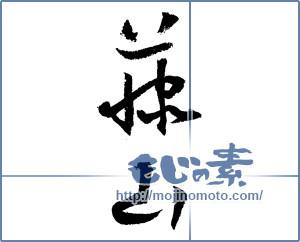 筆文字素材:藤山 [4201]