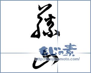 筆文字素材:藤山 [4207]