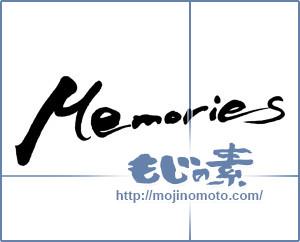 筆文字素材:Memories [9542]